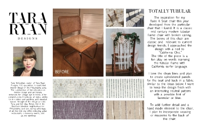 1-Tara McGeehan Take A Seat Design Board
